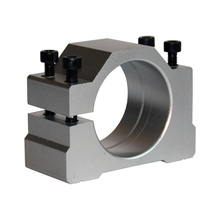High quality CNC spindle clamp 52 57 65 80mm aluminum motor bracket spindle motor holder high quality 1pcs motor mount inner diameter 57mm spindle motor fitted seat and spindle motor clamp screw cnc parts