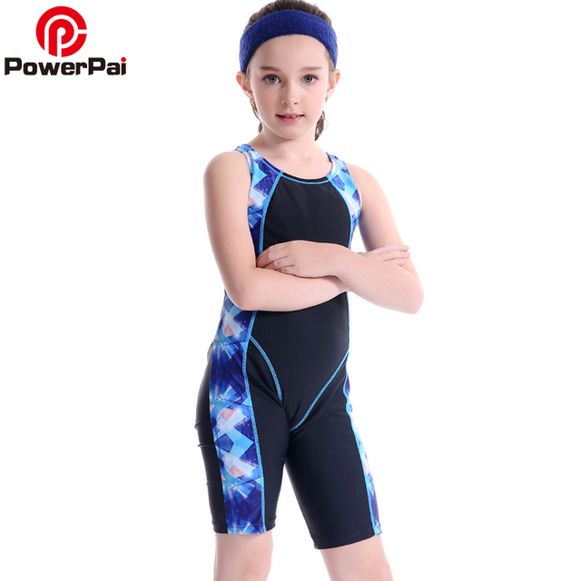 156cb058e5a1d New Professional Junior Student Train Swimming Suit Boys Girls Swimwear  2017 One Piece Swimsuit for kids Trunks Patchwork black