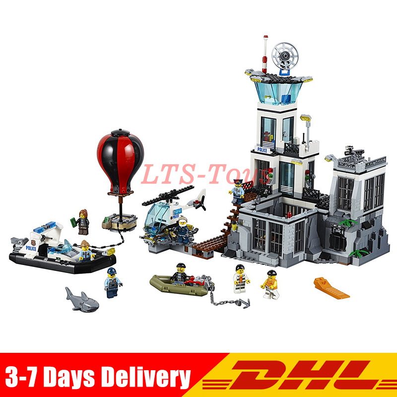 Compatible legoing 60130 LEPIN 02006 815 PCS City Police Prison Island Toy Set Model Building Kits Blocks Girl Gift цена