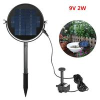 MeterMall Solar Fountain 9V 3W Round Water Pump Floating Water Fountain For Garden Decoration Waterfall