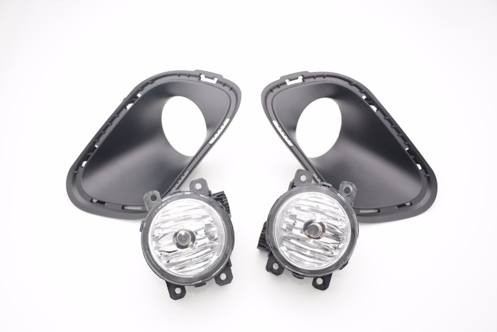 1Set Car styling fog Lights driving lamps with bezel cover kit For Jeep Cherokee 2014