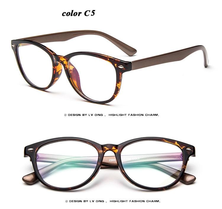 NEW 2016 Women eyeglasses optical Fashion Round plain glass frames ...