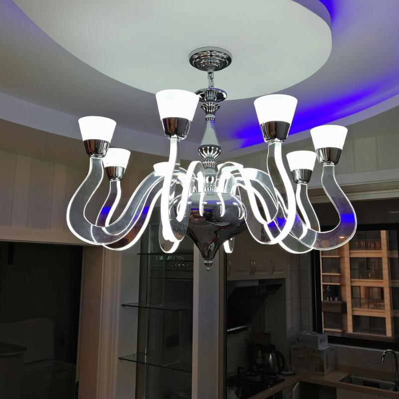 Simple Led Modern Chandelier Lighting Lustre Acryl Lamps For Home Chandeliers Dining Room Living Room 110V 220V CE RoHS цена и фото