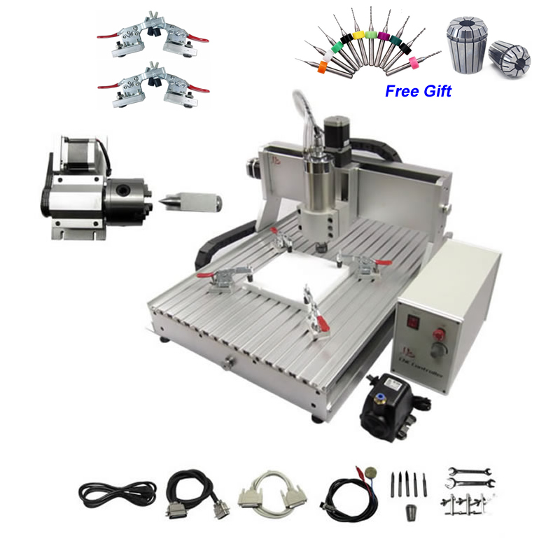 2.2KW USB 4 Axis CNC Engraving Machine CNC Router 6040 2200W CNC Spindle Mini CNC Milling Machine for Metal Wood 2.2KW USB 4 Axis CNC Engraving Machine CNC Router 6040 2200W CNC Spindle Mini CNC Milling Machine for Metal Wood