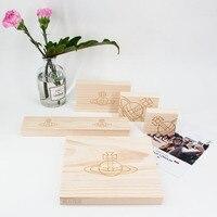 5pcs Wood Jewelry Display Block Earrings, Bracelets, Necklace, Pendant Display Wood Holder Jewellery Blocks