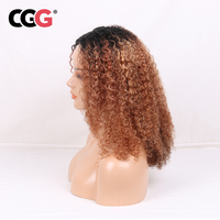 CGG афро странный Мягкие Вьющиеся супер пушистые волосы Швейцарский парик шнурка перуанский Реми длинных человеческих волос парики для черн