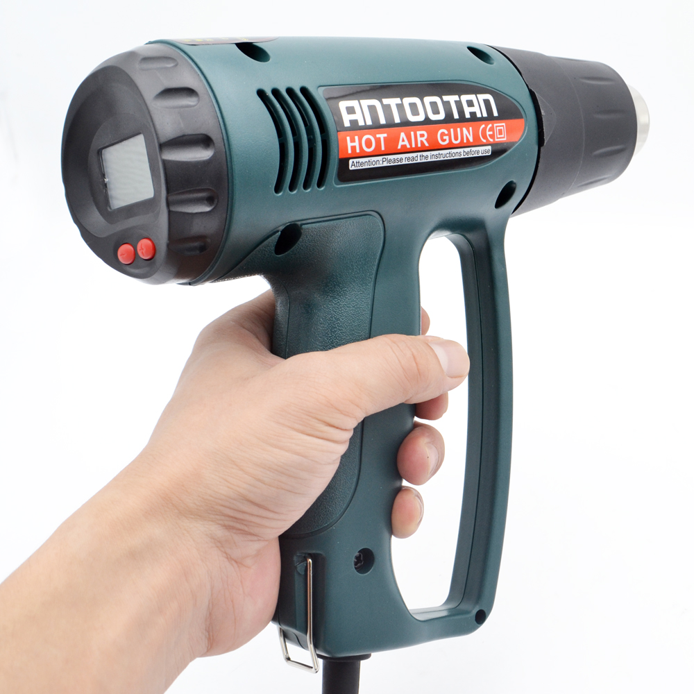 220 V 2000 W UE industrial pistola de aire caliente eléctrica thermoregulator heat guns LCD pantalla retráctil térmica herramienta