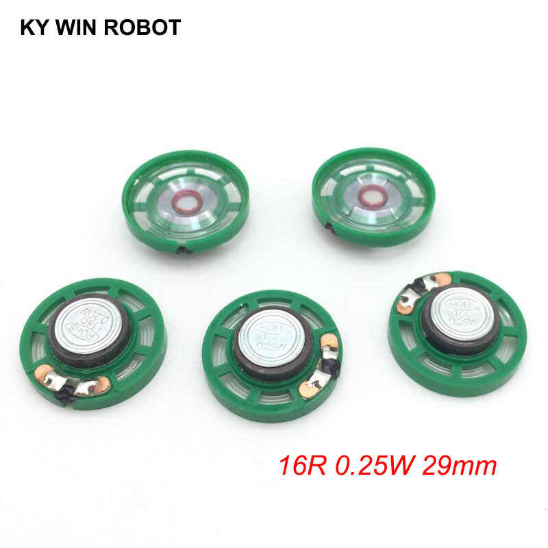 5pcs/lot New Ultra-thin Mini speaker 16 ohms 0.25 watt 0.25W 16R speaker Diameter 29MM 2.9CM thickness 9MM