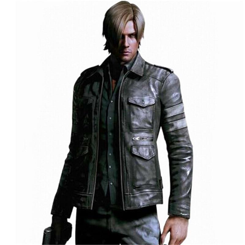 2017 Hot BIOHAZARD Game Resident Evil 6 Leon font b Jacket b font Gentlemen Cavalier Men
