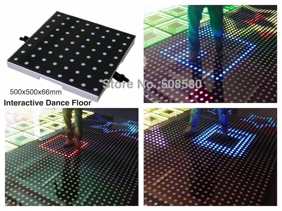2pcs/lot, NEW stage Interactive LED Dance Floor Light China for disco nightclub DJ bar party wedding decoration dancing lighting freeshipping 25pcs lot new disco light
