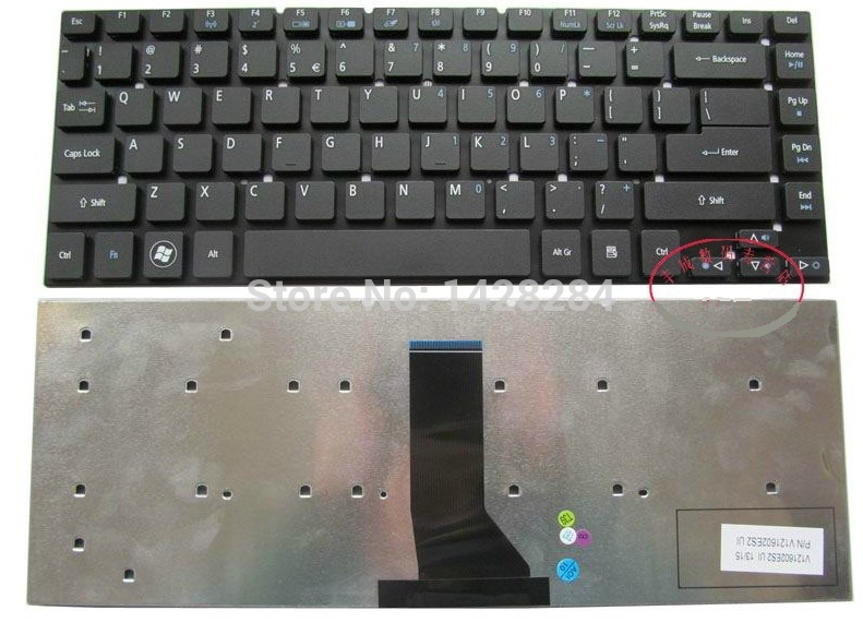 SSEA Free Shipping New US Keyboard For <font><b>Acer</b></font> <font><b>Aspire</b></font> 3830 3830G 3830T <font><b>3830TG</b></font> 4830 4830G 4830T 4830TG image