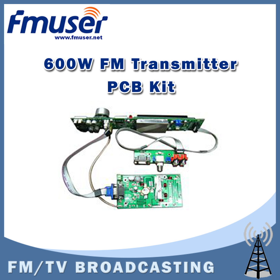 Free shipping FSN-600K 600W FM Transmitter PCB DIY Assemble Kit FM Radio Broadcast Kit free shipping rdc19222 600