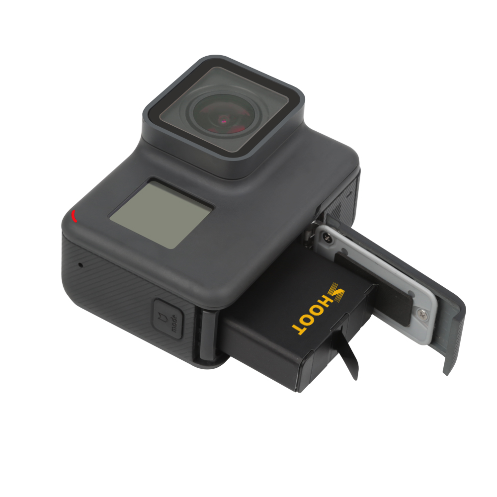 SHOOT AHDBT 501 Three Dual Port 1220mAh Battery for GoPro Hero 7 5 6 Black Camera with USB Charger for Go Pro Hero 7 6 Accessory in Sports Camcorder Cases from Consumer Electronics