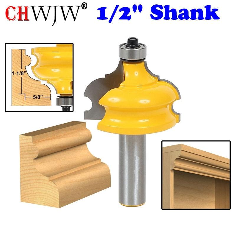 """1vnt. Klasikinis ir karoliukų formavimo ir apvadu frezavimo antgalis - 1/2 """"kotelio smailiapjovė medienos apdirbimo įrankiams"""