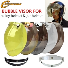 5 Colors EVO Motorcycle Helmet Visor Shield Retro Hallar Helmet Mask Vintage Helmet Bubble Visor