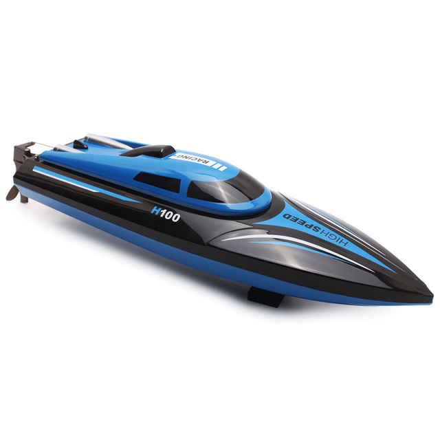 High Speed Skytech H100 RC Boat 2.4GHz 4 Channel 30km/h Racing Remote Control Boat with LCD Screen Toy for Children Best Gift