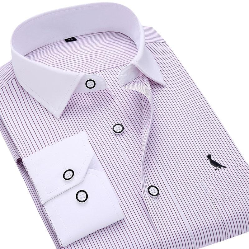 dfc811ad4e Comprare Dudalina 2017 camisa masculina sociale camiseta blusas manga longa  uomini riservato camicia slim fit Stripe business casual camicia Economici  ...