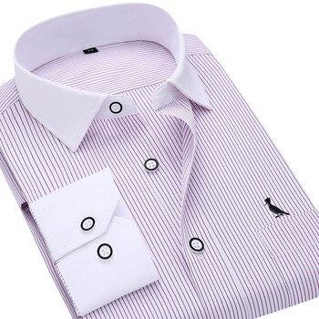 8806e85e42a961f Dudalina 2017 camisa social masculina camiseta blusas manga longa Мужская  рубашка в тонкую полоску деловая Повседневная рубашка
