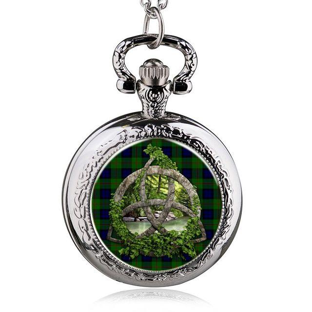 Tree Of Life Steel Quartz Pocket Watch Necklace Steampunk Jewelry Vintage Long C