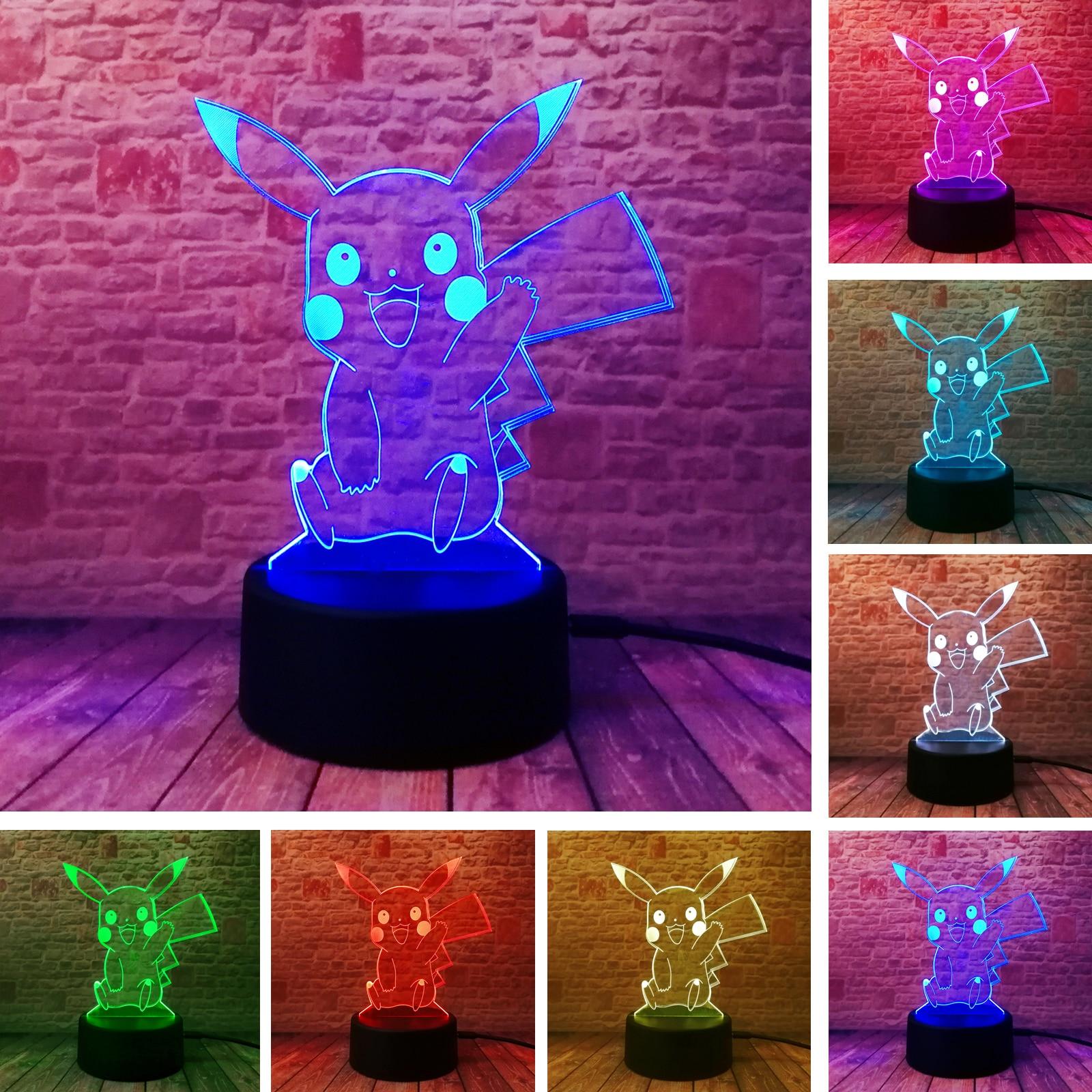 Veilleuses Illusion Optique Lampe Anime Mixte 7 Changement