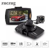 ZUCZUG Dual Lens Car Dvr with Two Cameras Auto Camera Video Recorder G Sensor Motion Detection Dash Cam special