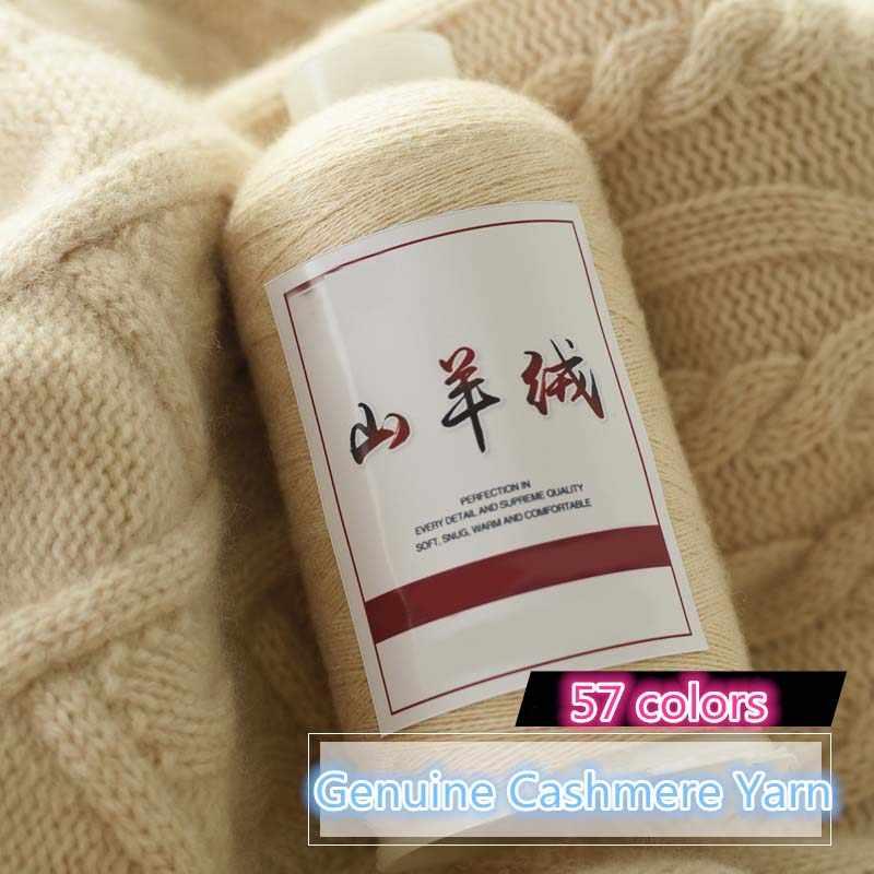 500 g Groothandel 100g/bal Echt Kasjmier Draad Kasjmier Hand Breien Zachte Warme Baby Haak Garen Voor Koude winter Fall