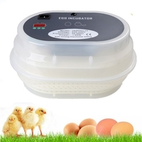 Best Sale 12 Eggs Incubator Hatcher Machine Digital Temperature Control Automatic Turning Poultry Incubation Tray