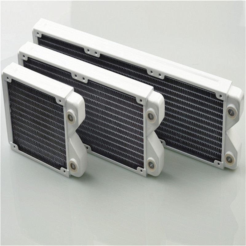 120 240 360 Water Cooling Radiator White Thin Copper Classic White Water Row Heat Exchanger Water Cooling White