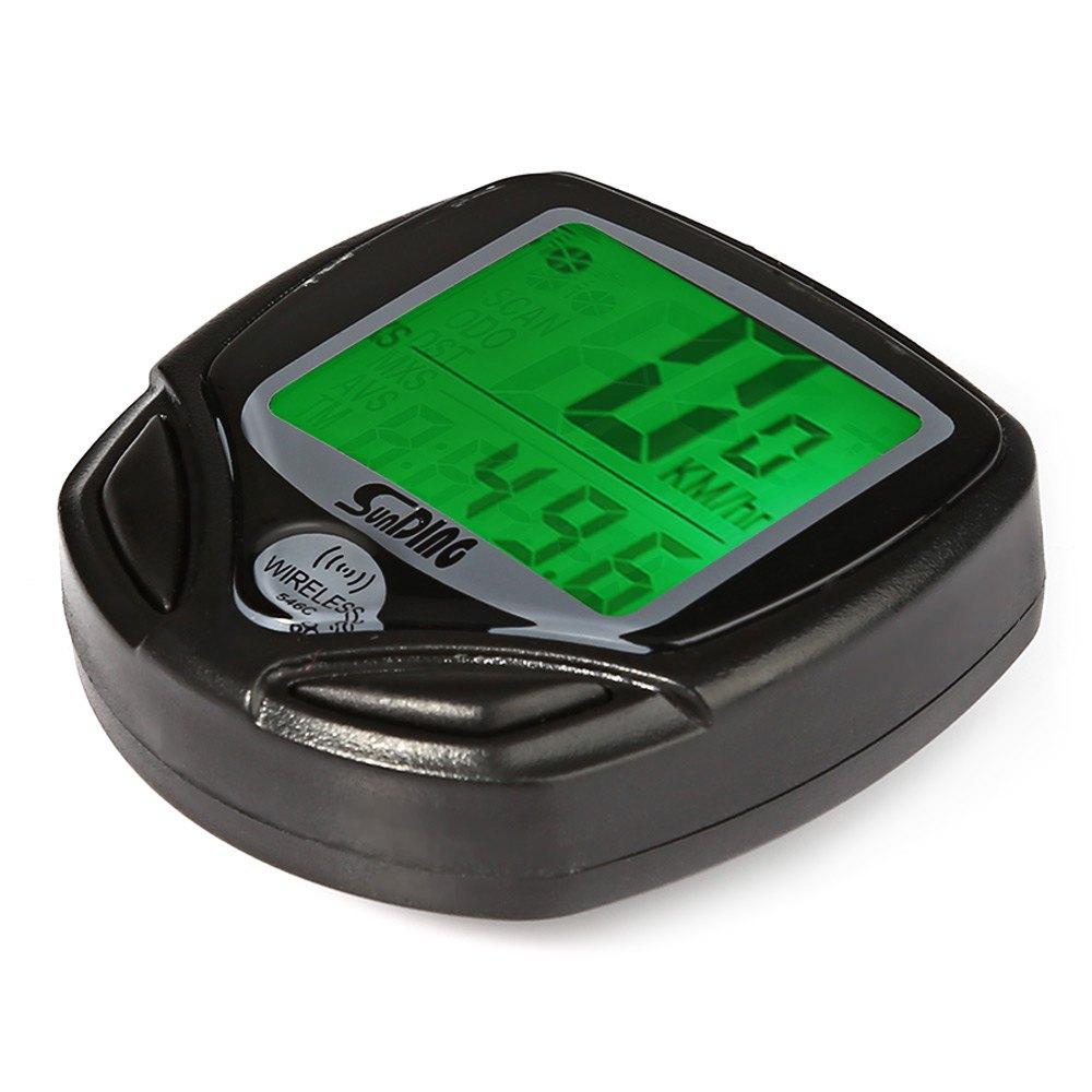 SunDing SD - 546C Wireless Bike Computer Speedometer Odometer Cycling Computer Wireless+ Bike Stopwatch Bicycle Computer
