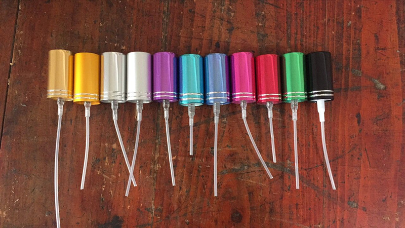 YP 1 50Pcs 11 colors / aluminum foil nozzle / 13 screw / perfume bottle spray tool-in Refillable Bottles from Beauty & Health
