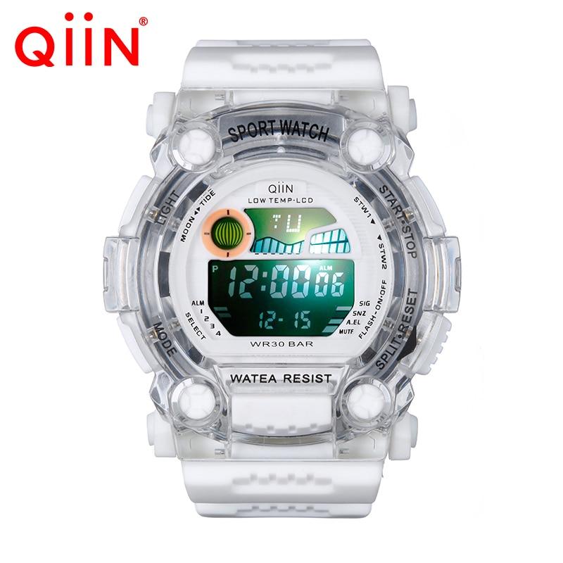 QS688 2016 Мужчины Цифровые Часы Мужчин Спортивные Часы Relógio С Током Relojes LED Военная Водонепроницаемый Наручные Часы