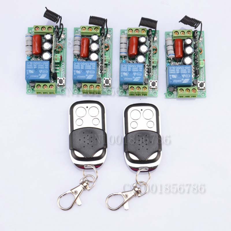 FreeShipping 220V 1CH 1000W RF Wireless Remote Control Switch System Toggle Momentary Latched light switch new rf wireless switch wireless remote control system 2transmitter 12receiver 1ch toggle momentary latched learning code 315 433