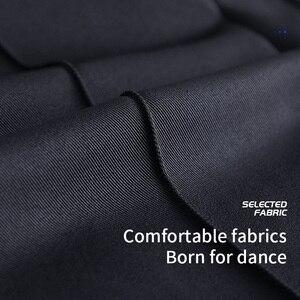 Image 5 - Pantalones de baile modernos para hombre, pantalón de baile latino, Salsa, Tango, Rumba, Samba, Cha, profesional, de baile negro