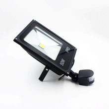 20pcs 10W 20W 30W 50W AC85-265V LED spotlight led flood light led lamp black shell PIR Motion sensor Induction Sense lamp