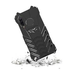 Image 4 - יוקרה באטמן Kickstand עמיד הלם מקרה עבור Xiaomi 9 9SE אלומיניום פגוש עור שריון מתכת חזרה כיסוי עבור Xiaomi 9 9 SE