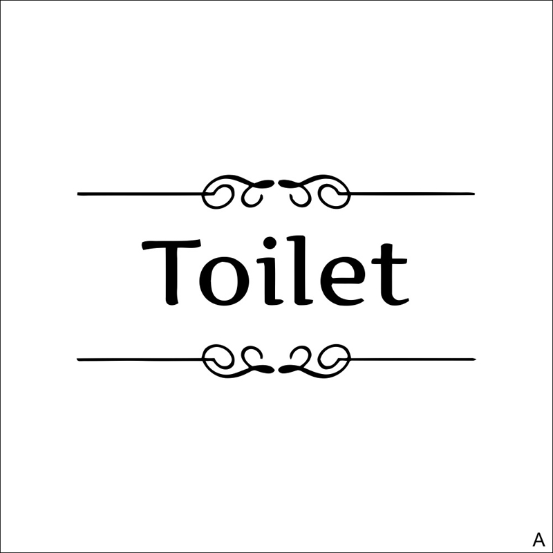 Vintage Wall Sticker Toilet Sign For Bathroom Toilet Door Decal Transfer Toilet Sticker Home Decoration Quote Wall Stickers Cafe-in Wall Stickers from Home ...  sc 1 st  AliExpress.com & Vintage Wall Sticker Toilet Sign For Bathroom Toilet Door Decal ...