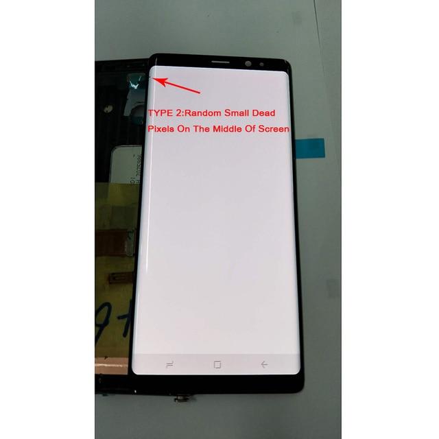 """6.3 """"سوبر AMOLED شاشات lcd لسامسونج غالاكسي ملاحظة 8 N9500 N9500F N900D N900DS عرض + محول الأرقام بشاشة تعمل بلمس مع صغيرة الميت بكسل"""