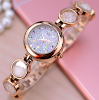Fashion Gold Bracelet Watches Women Top Luxury Brand Ladies Rhinestone Quartz Watch Famous Watch Clock Relogio