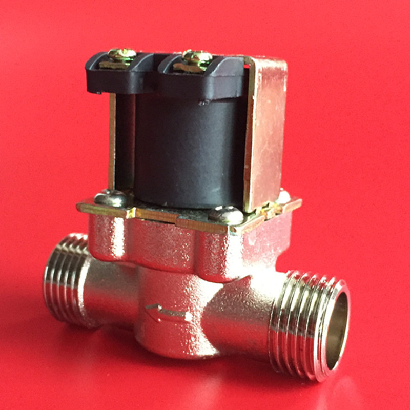 Free Shipping Solenoid Valve copper electroplating 1/2 normally closed high temperature water valve 0-120C 12Vdc 220Vac free shipping normally closed solenoid valve 2v025 08 220vac 1 4 high qulity for water air gas 2v sereis two way valve