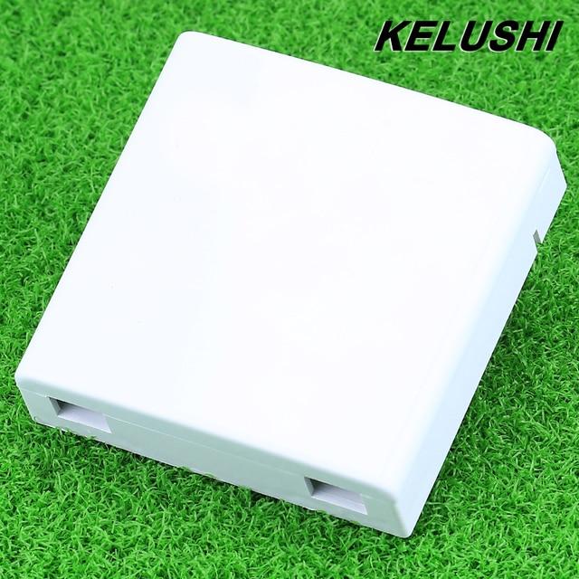 KELUSHI Free Shipping FTTH 30pcs/lots Fiber Panel Fiber 0ptic Terminal Junction Box 86 Information Panels 86 Desktop Box