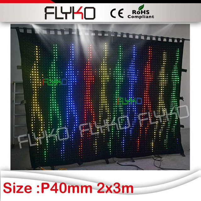 Free Shipping Alibaba Shop Invention 2015 Led Curtain Sex Video P4 Flightcase Shipping