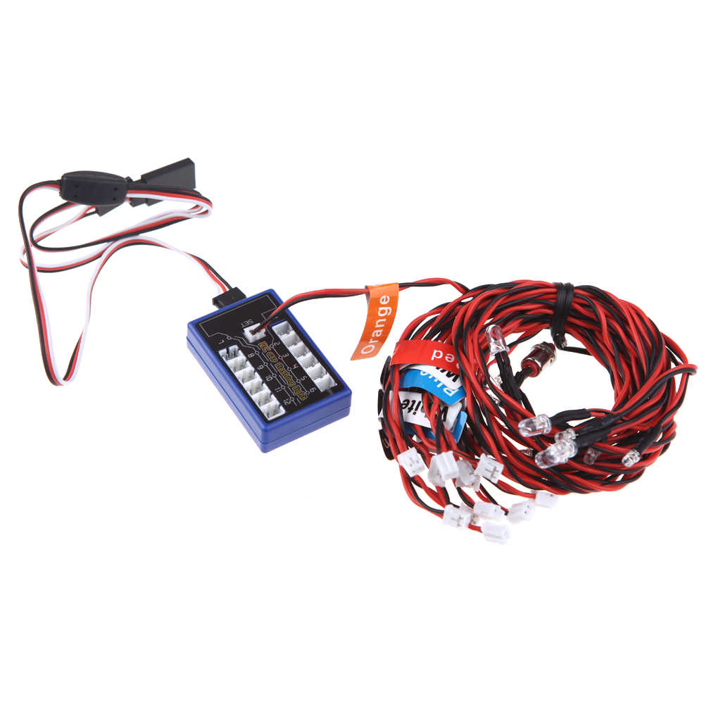 GoolRC 12 LED Knippert Light System voor RC Cars G. t. POWER Smart PPM/FM/FS 2.4G Vrachtwagens 1/10th Schaal Kleiner Deel