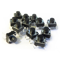 FSLH 10 Pcs Panel PCB Momentary Tactile Tact Push Button Switch DIP