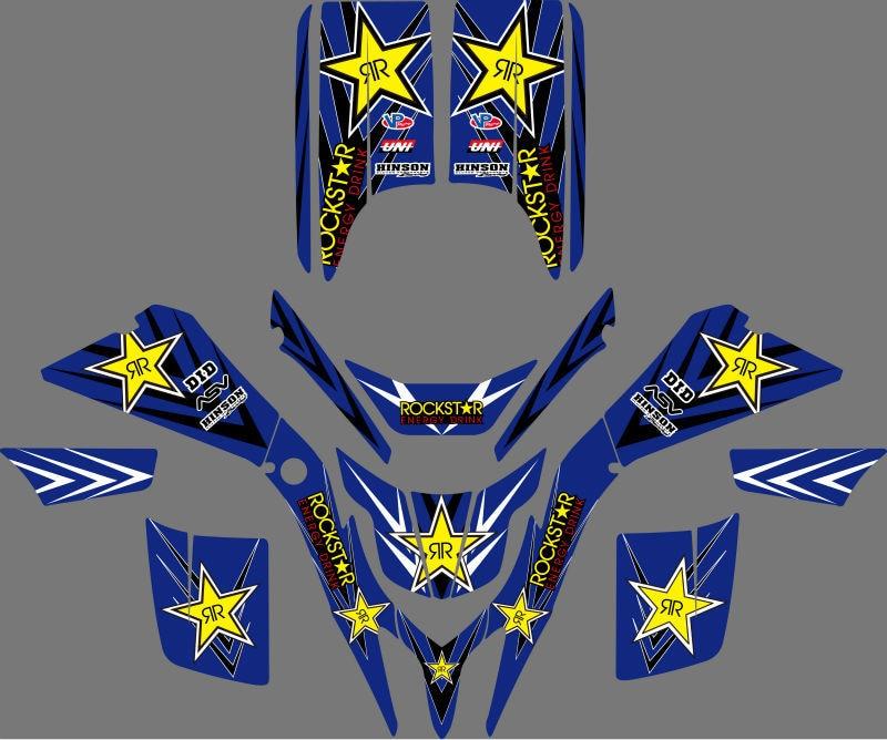 0043 nuevo estilo calcomanías pegatinas gráficos para Yamaha BLASTER YFS200 1988-2006, 1990, 1992, 1994, 1996, 1998, 2000 YFS 200 Blaster200