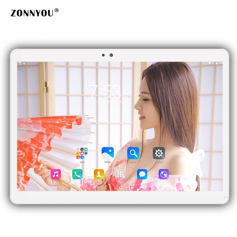 10/1 Tablet PC 3G Phone Call Android 8.0 Octa Core 4GB RAM 32GB ROM Wi Fi Bluetooth GPS HD IPS Tablets PC +Cover 10.1 10.