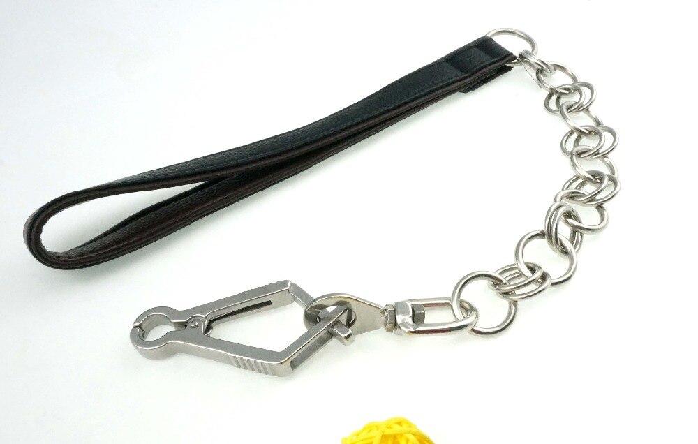 Gujia 8117 Bőr + rozsdamentes acél rövid Leashes húzza a kötelet - Pet termékek - Fénykép 2
