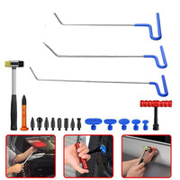 PDR kit Paintless Dent Repair Tools Push Rods Hail Puller Lifter Hammer Heads Kit glue puller for ding damage pdr glue tabs