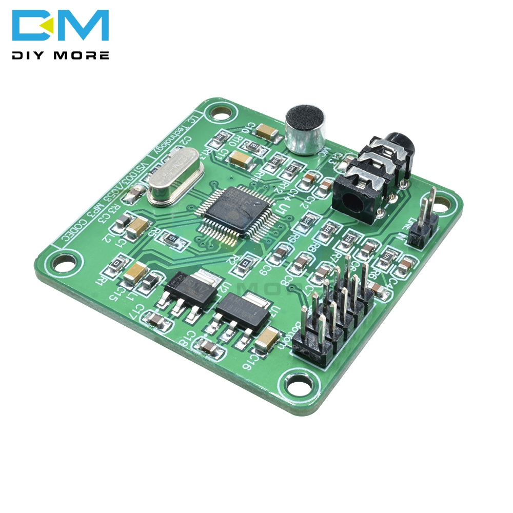 VS1053 MP3 Module Development Board Microphone w/ On-Board Recording Function SPI Interface OGG Output Port Line-in 12.288 MhzVS1053 MP3 Module Development Board Microphone w/ On-Board Recording Function SPI Interface OGG Output Port Line-in 12.288 Mhz