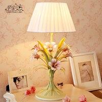 Large living room table lamp bedroom bedside lighting creative rural rustic wedding flowers decorate wedding gifts