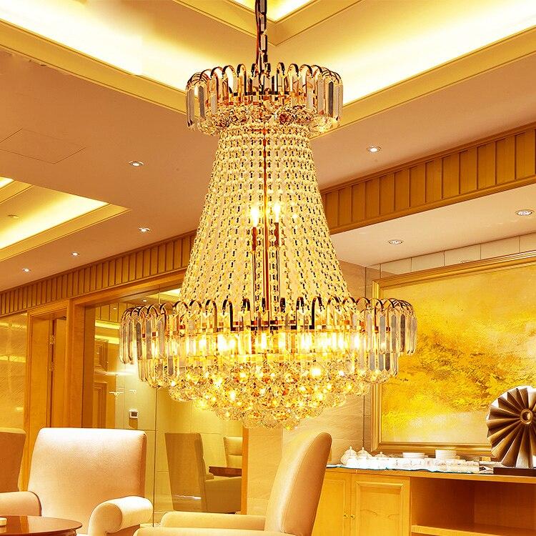 Zlatni kristalni luster Moderni kristalni lusteri Svjetla - Unutarnja rasvjeta - Foto 4
